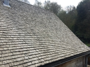 The roof of Speckled Wood- the shingles we were making will make a roof like this.
