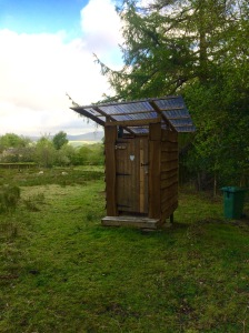 The composting toilet, the facilities here are basic but clean.