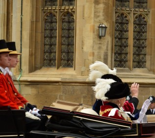 The Queen and the Duke of Edinburgh leave