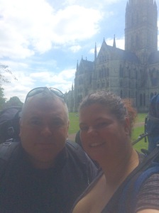 Setting off from Salisbury Cathedral