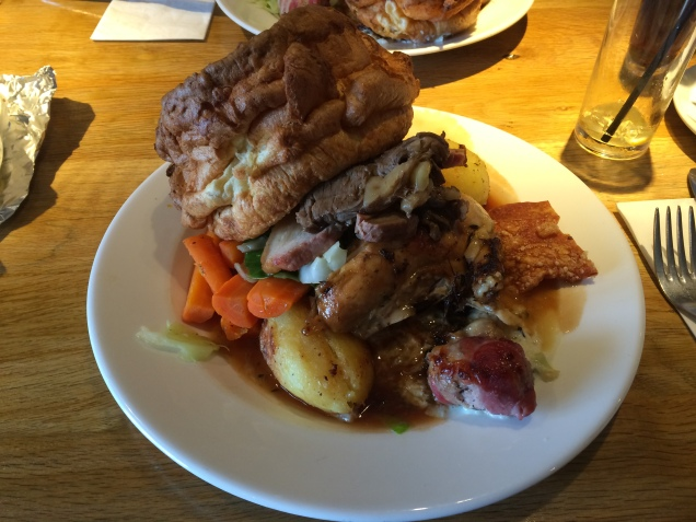 What a huge Sunday lunch